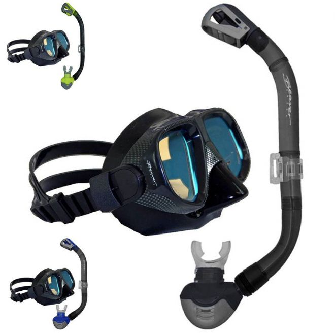 Blue Water Sports COLOUR ENHANCE Pro Mask and Snorkel Set